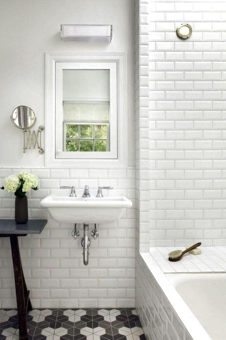 WHITE BATHROOM IDEAS SUBWAY TILES - http://www.homedesignstyler.com/photos/bathroom/white-bathroom-ideas-subway-tiles.html