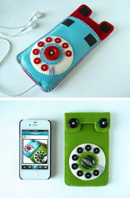 Funda para el móvil en fieltro. Iphone case.