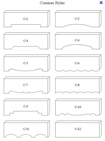cornice box styles - for dad                              …