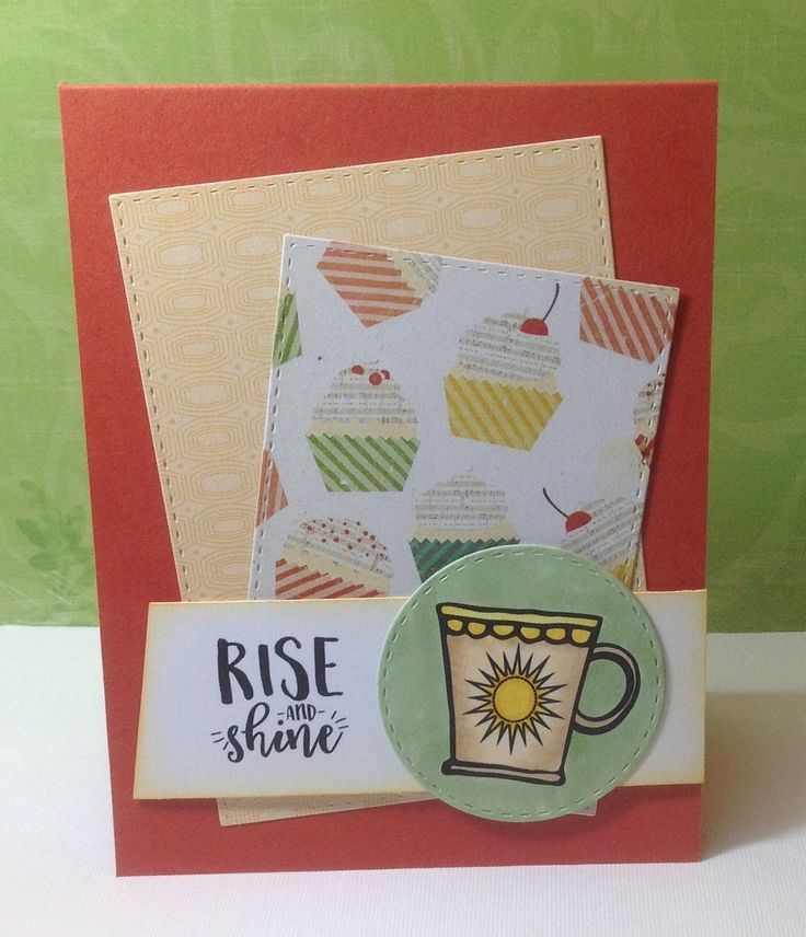 Handmade card by Marianne using the Rise and Shine digital set from Verve. #vervestamps