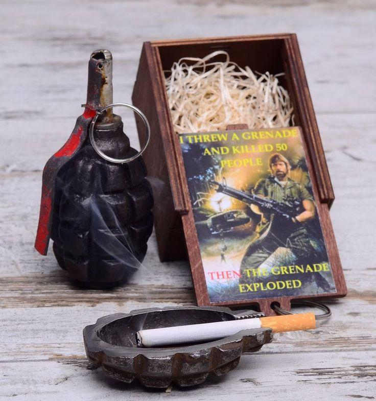 "Ashtray ""Chuck Norris"" Viral Internet Meme / #ashtray #F-1 #F1 #handgrenade #hand #grenade #trench #art #shells #antiques #bullets #rings #ww2 #diy #trenchart #wwii #vase #lamp #worldwar1 #ww1 #trenchartstudio #studio #street #styles #posts #military #fashion #vintage #wedding #handicraft #steampunk #dieselpunk #style"
