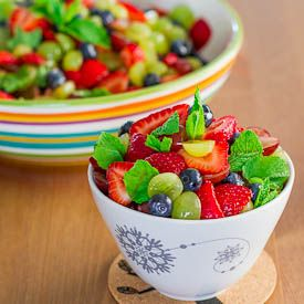 #Summer Fruit #Salad with Lemon Dressing - healthy, delicious, refreshing and perfect for a hot summer day.