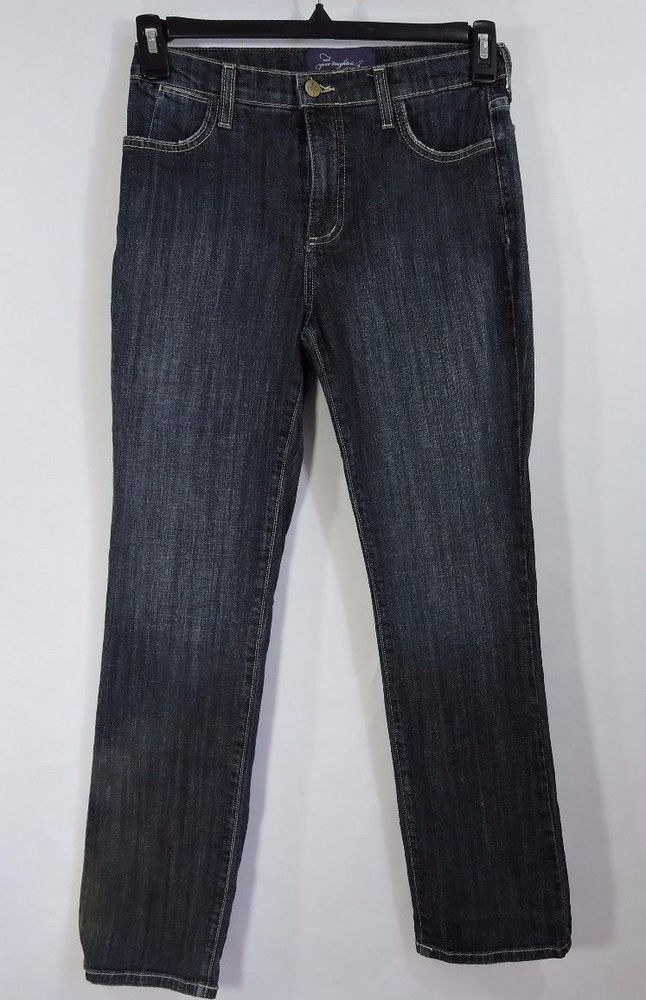 Not Your Daughters Jeans NYDJ  Women Petite Blue Jeans Size 4P #NYDJ #StraightLegP7431SS