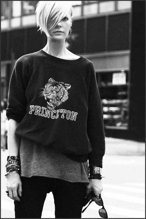 Ok, like the sweatshirt. Love the hair. regret my new bangs now. sigh. gonna take the whole summer to grow out.