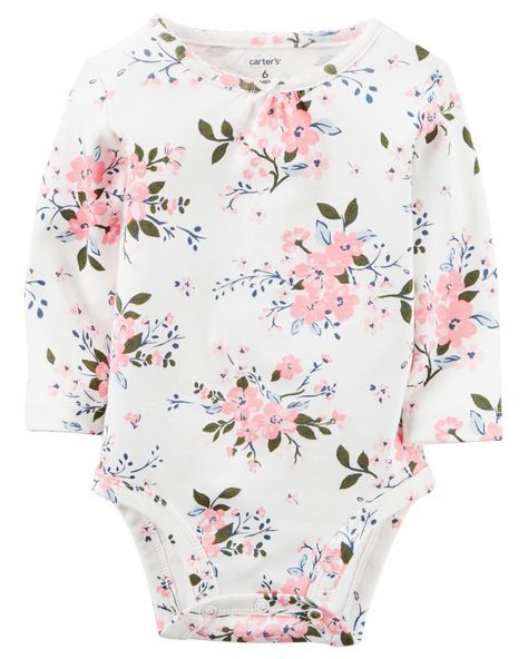 Baby Girl Floral Print Bodysuit | http://Carters.com