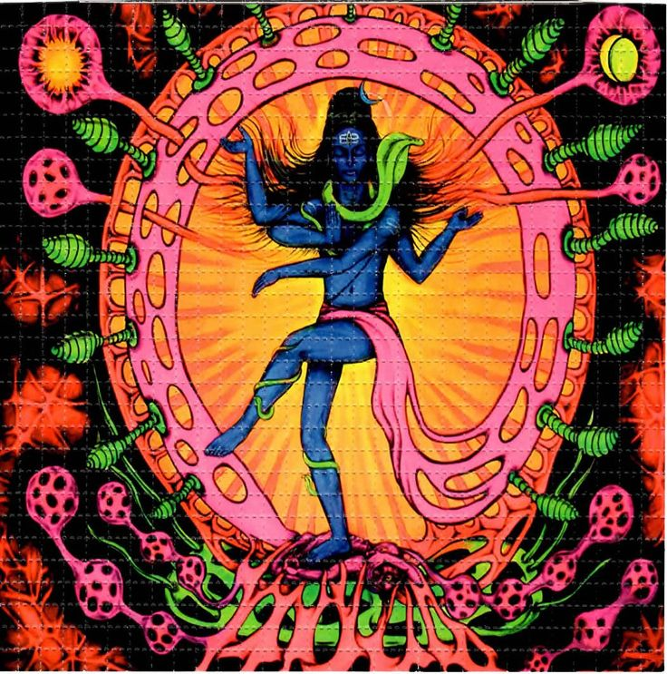 Shiva BLOTTER ART perforated acid art paper Kesey by ZaneKesey