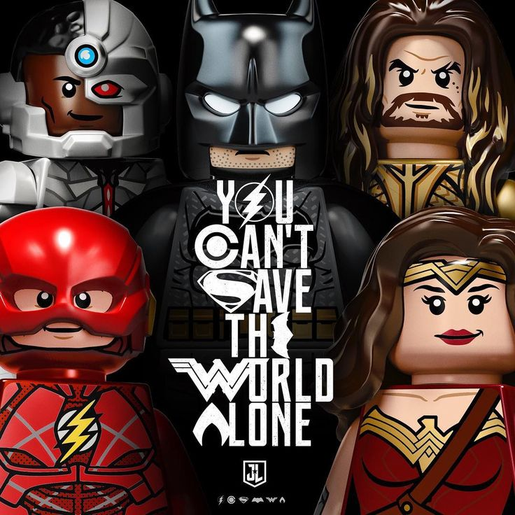 DC Comics Unite The League! #Lego #justiceleague You Can't Save The World Alone poster