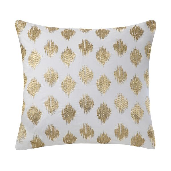 inkivy nadia dot embroidered 18inch cotton throw pillow by ink and ivy