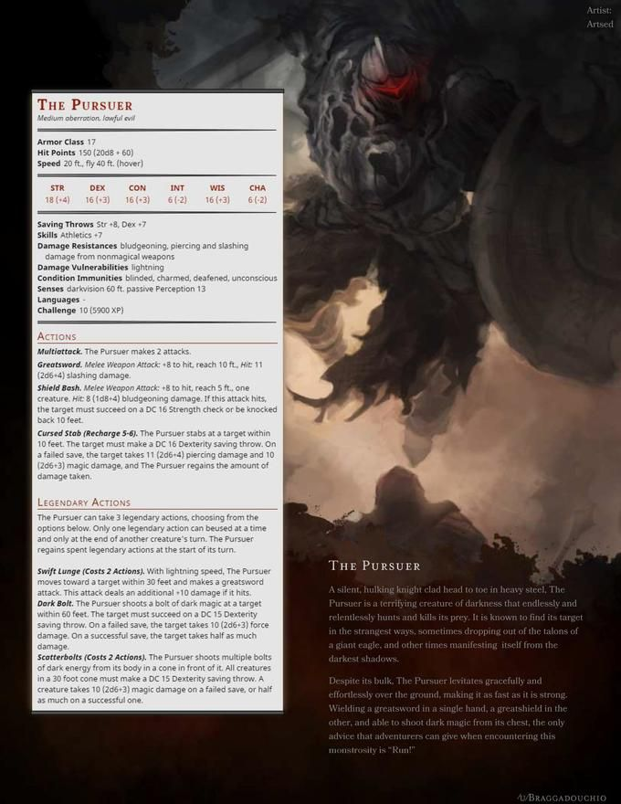 The Pursuer - a bit of a teaser for my upcoming Dark Souls 2 monster packs!