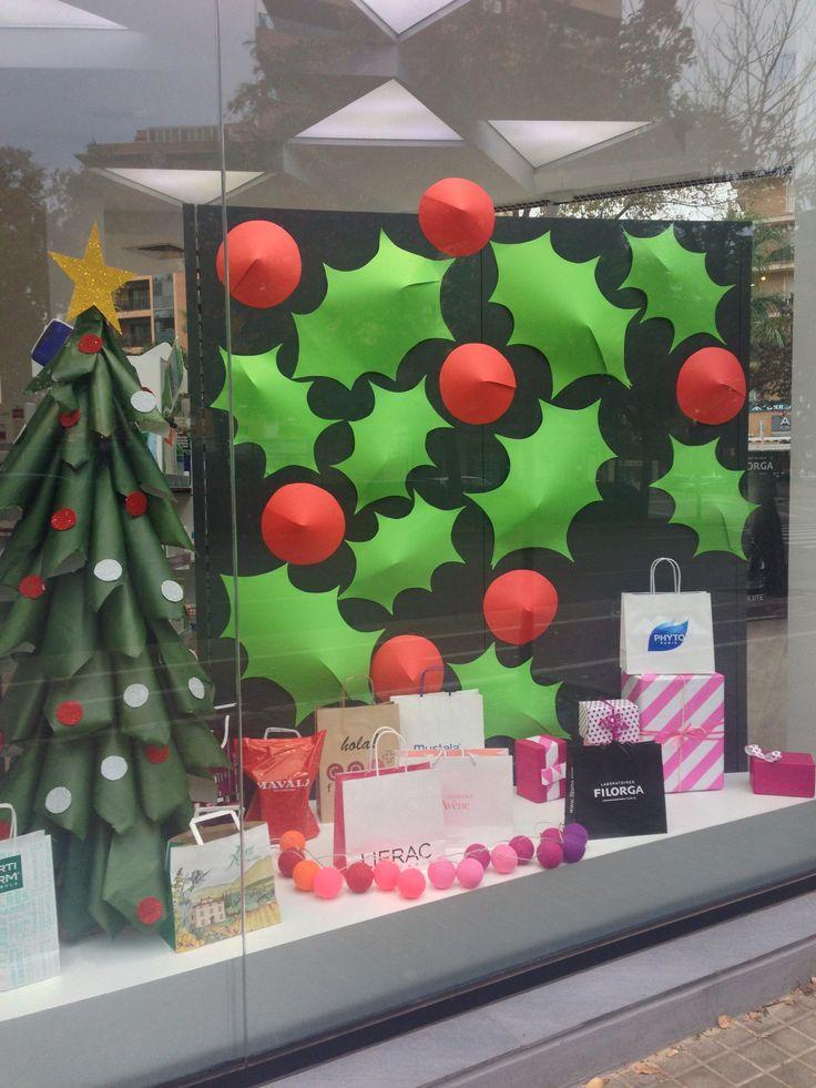Escaparate grande Navidad 2014 farmacia COR Valencia