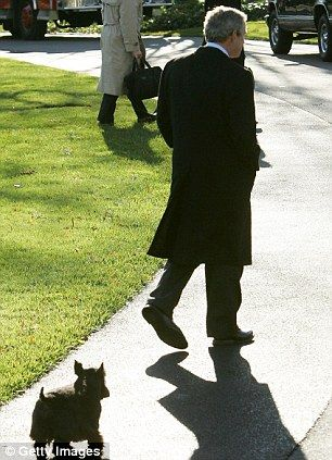 President Bush and his dog Barney.