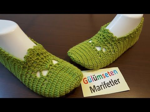 Yeni model örümcekli patik modeli/How to easy crochet a booties/knitting/flowers - YouTube