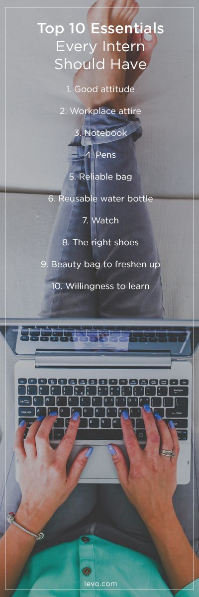 Don't forget to pack your bag with the essentials for your summer #internship
