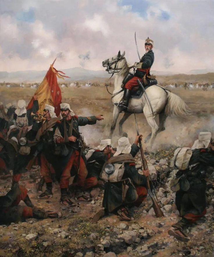 ¡Adelante! ¡Viva España!. Defensa de Melilla durante la primera guerra del Rif, en 1893.Crónicas24 - Todas las batallas de Augusto Ferrer-Dalmau