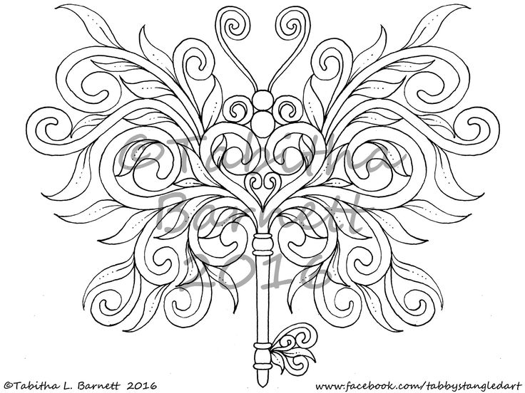 Butterflis Coloring Pack 2 6 New Tangled Butterflies PDF Landscape