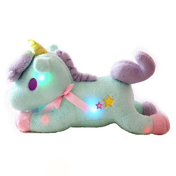 Glow in the Dark Kawaii Unicorn Plush LED Children/'s Blue Stuffed Animal Toy
