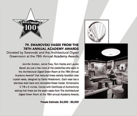 Hollywood 100, Swarovski Shell Vase