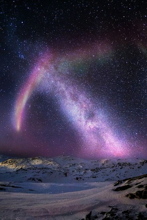 Sisimiut, Greenland (The arrow in the heavens was an auspicious sign in some cultures...and an omen of war in others.)