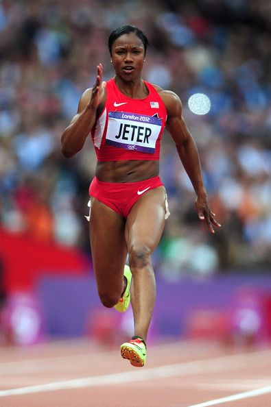 Carmelita Jeter. Gold Medalist. London 2012 Olympics.