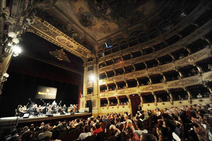 I Solisti di Perugia, the string orchestra, in the fabulous Morlacchi Theater at the Umbria Jazz Festival