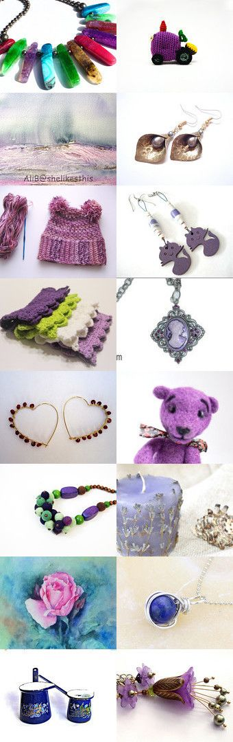 Purple Saturday for Purple Lovers  by Tatie on Etsy--Pinned+with+TreasuryPin.com
