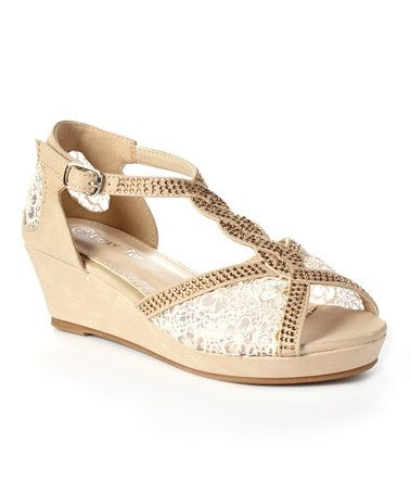 Look what I found on #zulily! Beige Lord Braided Strap Sandal #zulilyfinds