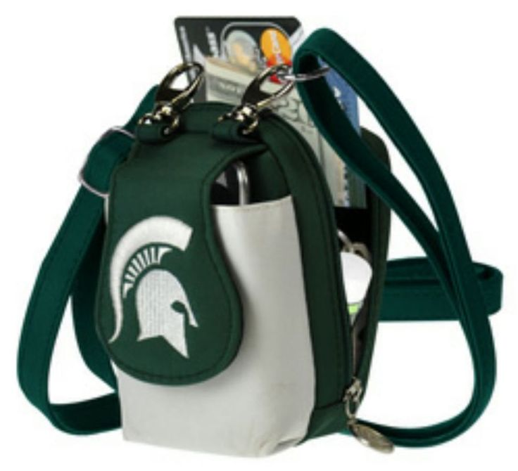 Michigan State University Purse Game Day NCAA Michigan Spartans Cellphone Case #LittleEarth #MichiganStateSpartans