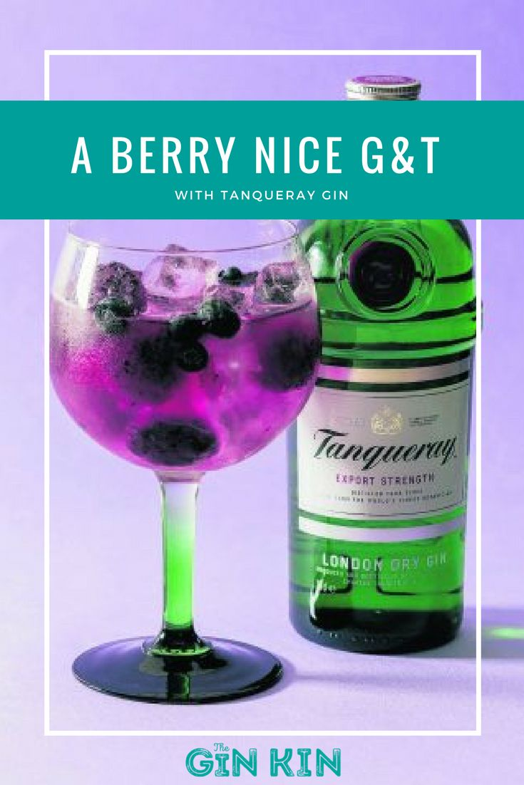 A beautiful recipe for a summery, berry-fied gin and tonic with Tanqueray Gin.