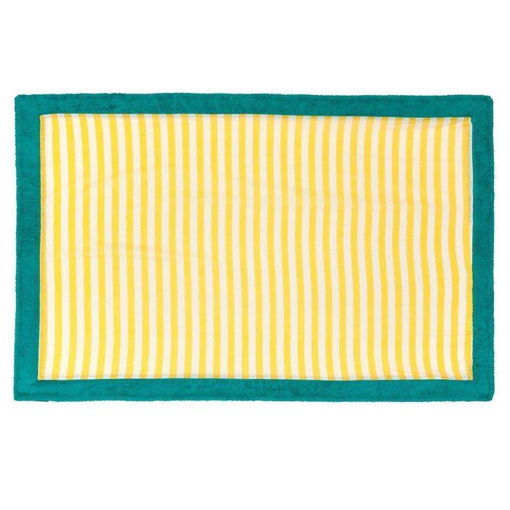 Chaise Longue Yellow Aqua | Signature Beach Towel - Sun of a Beach