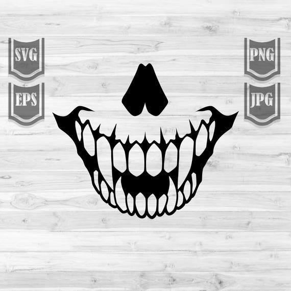 Sharp Scary Teeth Svg File Teeth Clipart Scary Skull Etsy Cricut Halloween Teeth Illustration Cricut Projects Vinyl