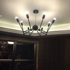 Современный творческий 8 головок паук подвесной светильник гостиной журнальный бар висит потолочный светильник светильник
