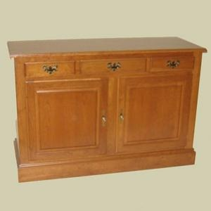 """Redux Antique Hardwood Sideboard Cabinets – 51"""" wide Heritage Colonial Sideboard Cabinet. Caringly hand-built & hand-finished by Mennonite & Amish craftsmen. Available in premium Oak, Maple, or Cherry hardwoods and a full range of durable finish colors. Find the Heritage Colonial Sideboard Cabinet at http://www.mennonite-furniture-studios.com/Amish-Heritage-Colonial-Sideboard-Cabinet,-51-inch/"""