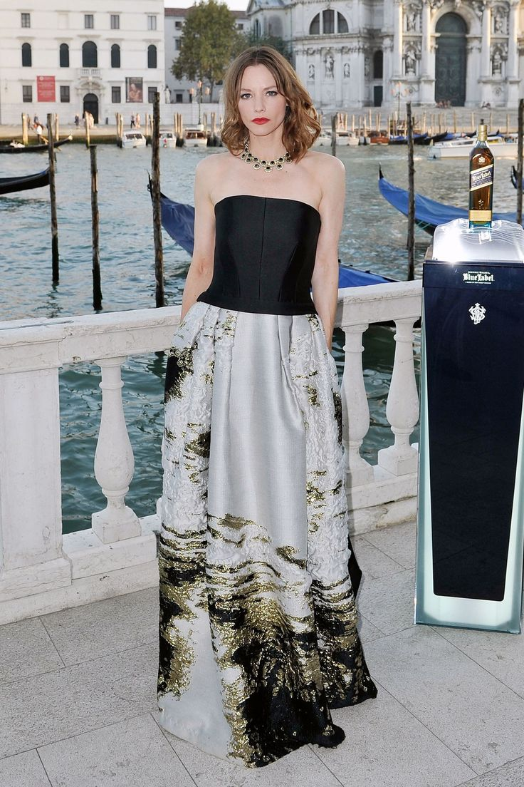 Sienna Guillory in Alberta Ferretti - Johnnie Walker Blue Label party - August 27 2014