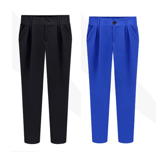 Hot Women Ladies OL Casual Slim Skinny Pencil Pants Harem Pants Long Trousers S-XL