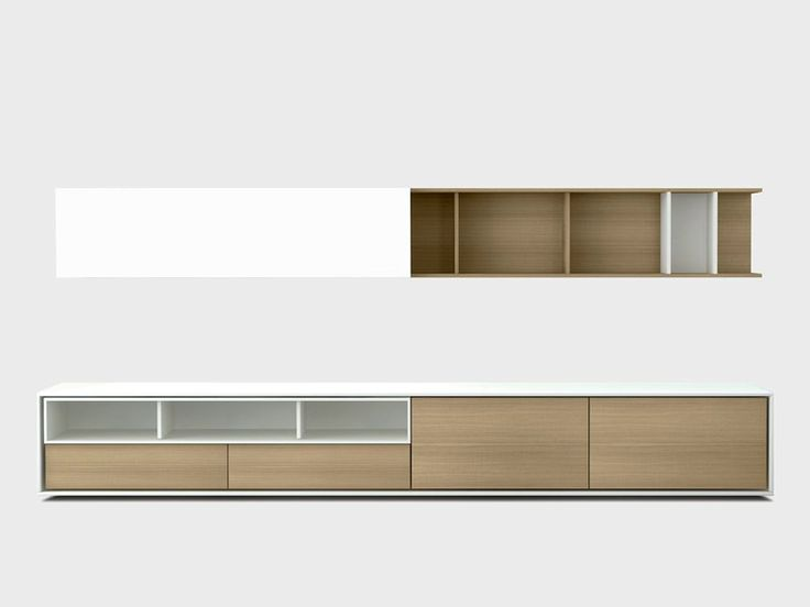Contemporary style wooden storage wall AURA C6-2 Aura Collection by TREKU | design Angel Martí, Enrique Delamo