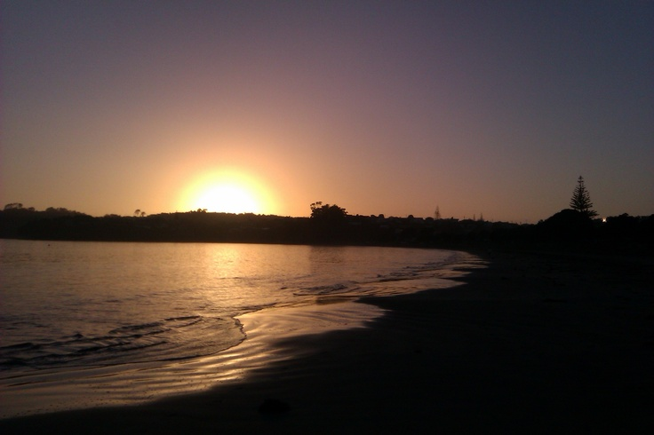 Manly Beach at Sunrise in Winter