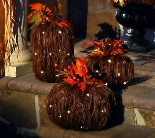 Adorable Bethlehem lights grapevine Pumpkin