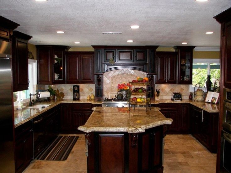 Great kitchen for holiday gatherings.   Kitchen Cabinets   Pinterest