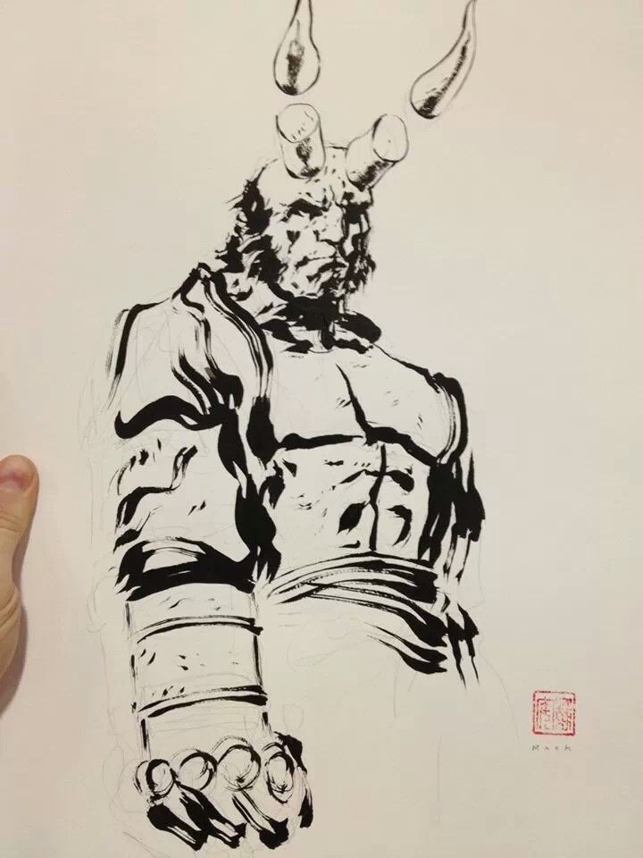 Hellboy by david mack · archangelcomic artcomic