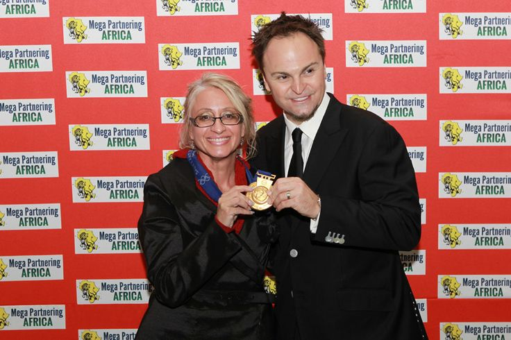 Beryl Bronkhorst with Steven Bradbury,former Australian short track speed skater and four-time Olympian, who won the 1,000 m event at the 2002 Winter Olympics after all of his opponents were involved in a last corner pile-up.
