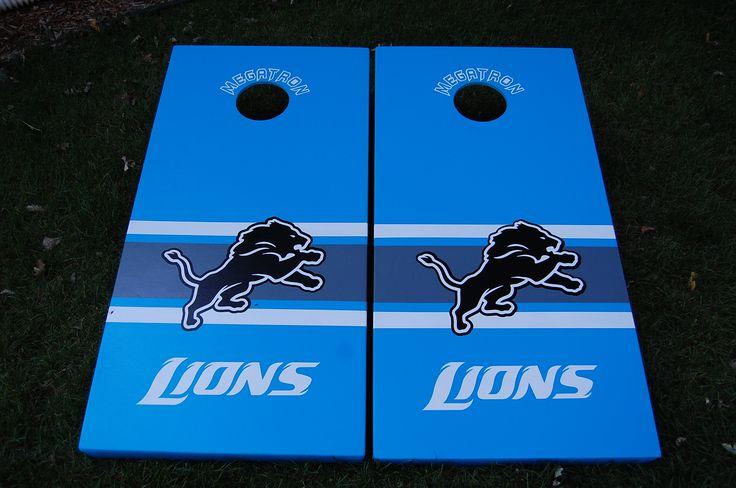 Detroit Lions cornhole boards!