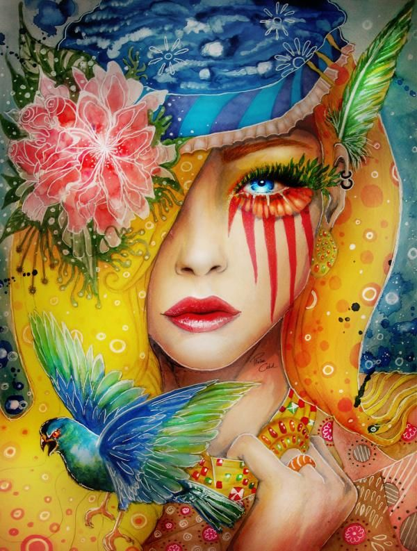 women art pinterest | Colorful Portrait Paintings by Svenja Jödicke, aka Pixiecold in dA ...