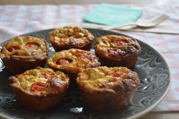 Mini quiches , super makkelijk te maken met croissantdeeg | Taste Our Joy!