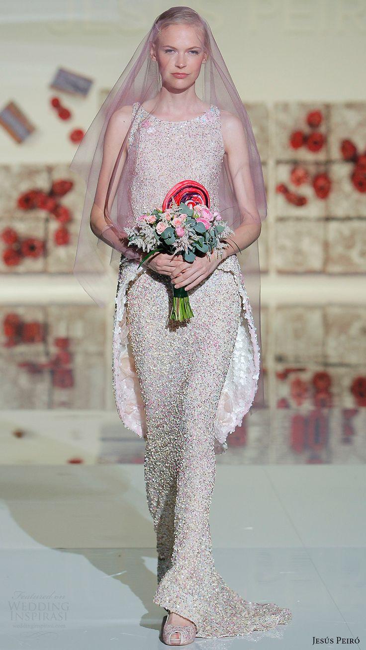 jesus peiro bridal 2017 sleeveless scoop neck fully embellished sheath wedding dress (32) mv