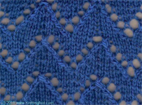 Lace Chevron 1 - Knittingfool Stitch Detail