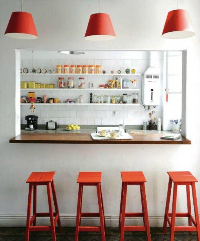 Gat In Muur Laten Maken Is Dat Goedkoper Dan Doorbreken In De Eerste Instantie Thuisdecoratie Keuken Ontwerp Keuken Bar