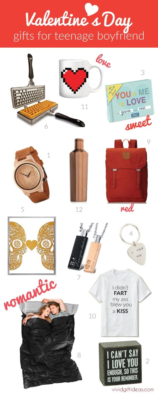 Valentines Day Gift Ideas for Teen Boyfriend. Teen guys gifts.