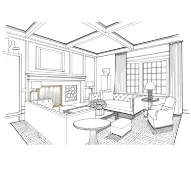 105 best Interior Design Sketches images on Pinterest