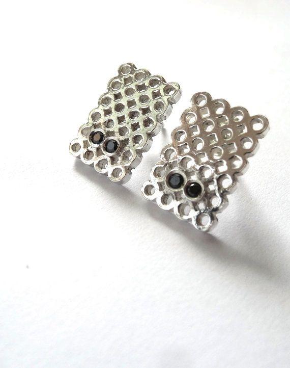 Get a Round Sterling Silver Earrings by AnaBragancaJewellery
