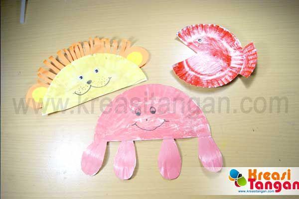 Kerajinan tangan anak dari piring kertas